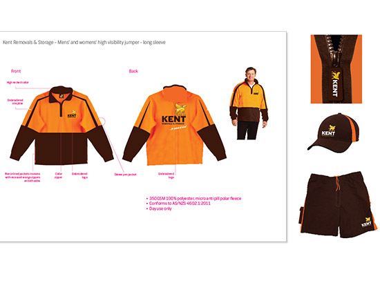 Gallup brand identity creation, redesign and custom made private and corporate uniforms