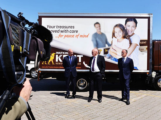 Gallup Kent Removals case study staged and leveraged state and national public relations/media events