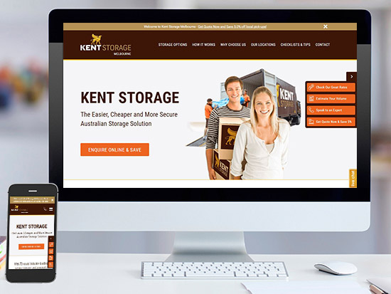 Gallup Kent Storage case study created disrupting national and hyper-localised SEO, PPC, UX and conversion optimised website